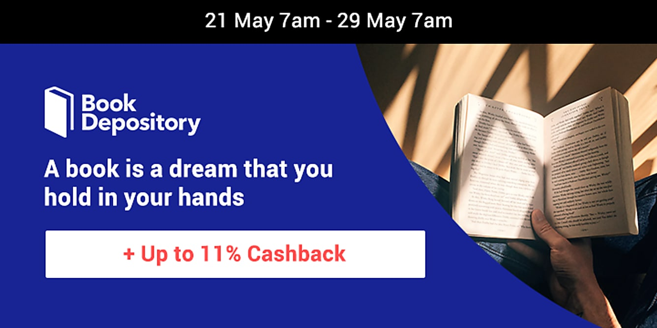 Book Depository up to 11% upsized cashback till 29 may