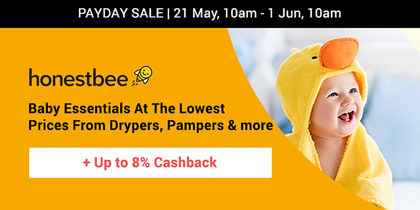 Honestbee up to 8% cashback