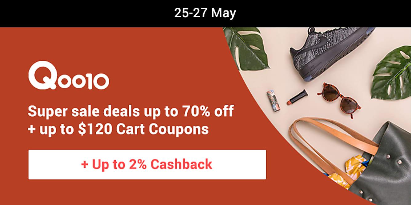 Qoo10 super sale till 27 may