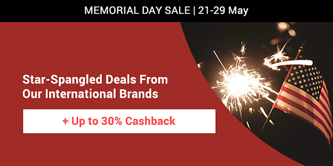 Memorial day sale till 29 may