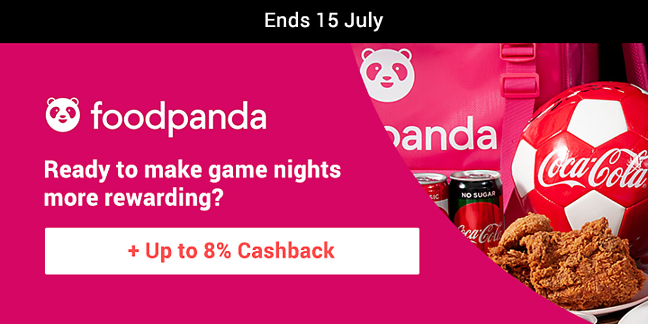 Foodpanda up to 8% cashback