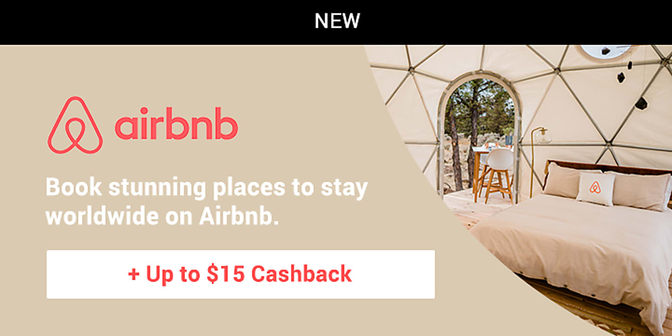 Airbnb launch $5 cashback