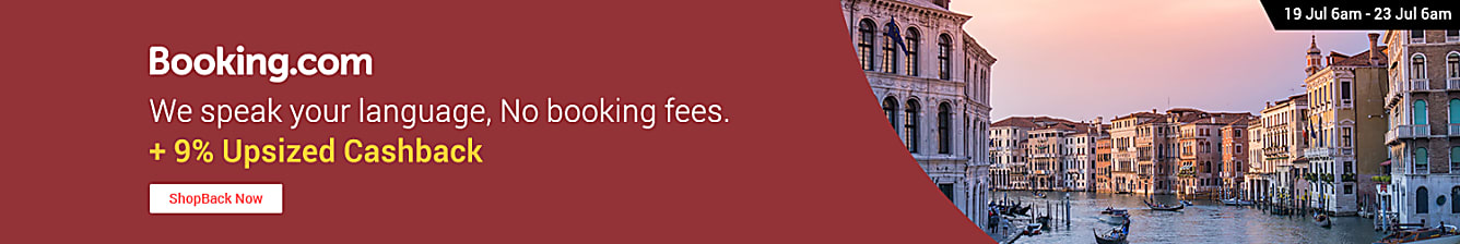 Booking.com 9% upsized cashback