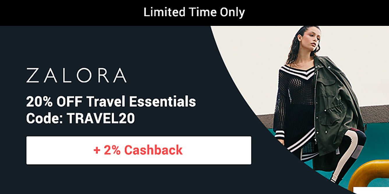 Zalora 20% off travel essentials