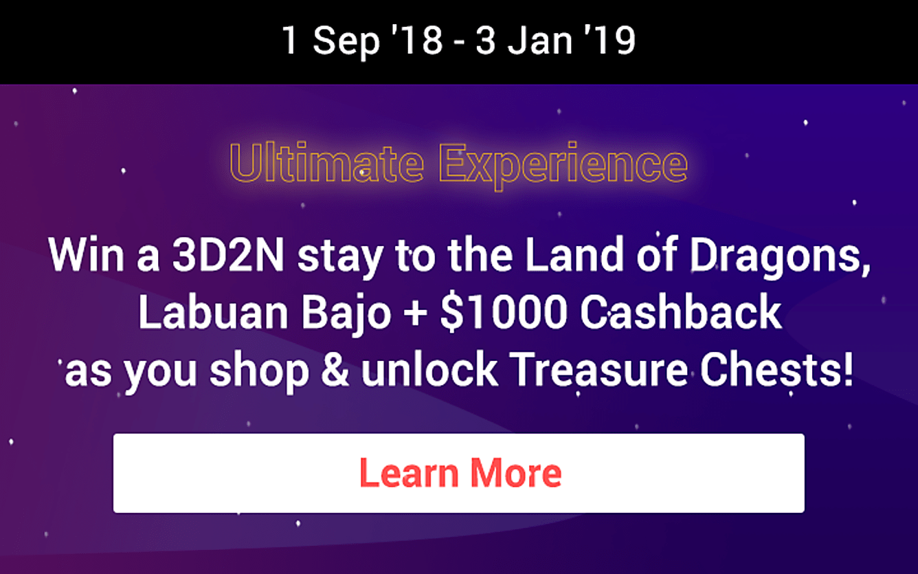 ShopFest Ultimate Experience win 3D2N stay to Labuan Bajo + $1000 Cashback