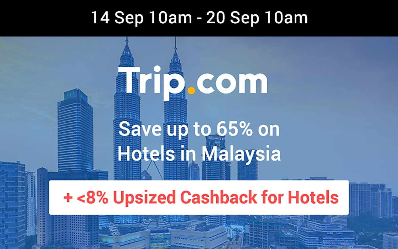 Trip.com up to 8% upsized cashback