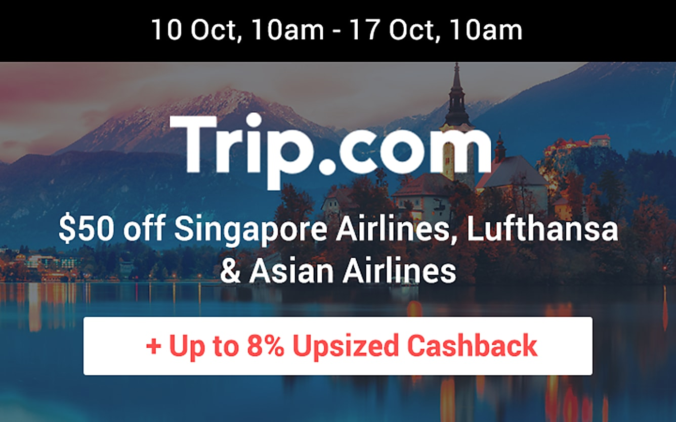 Trip.com up to 8% upsized cashback