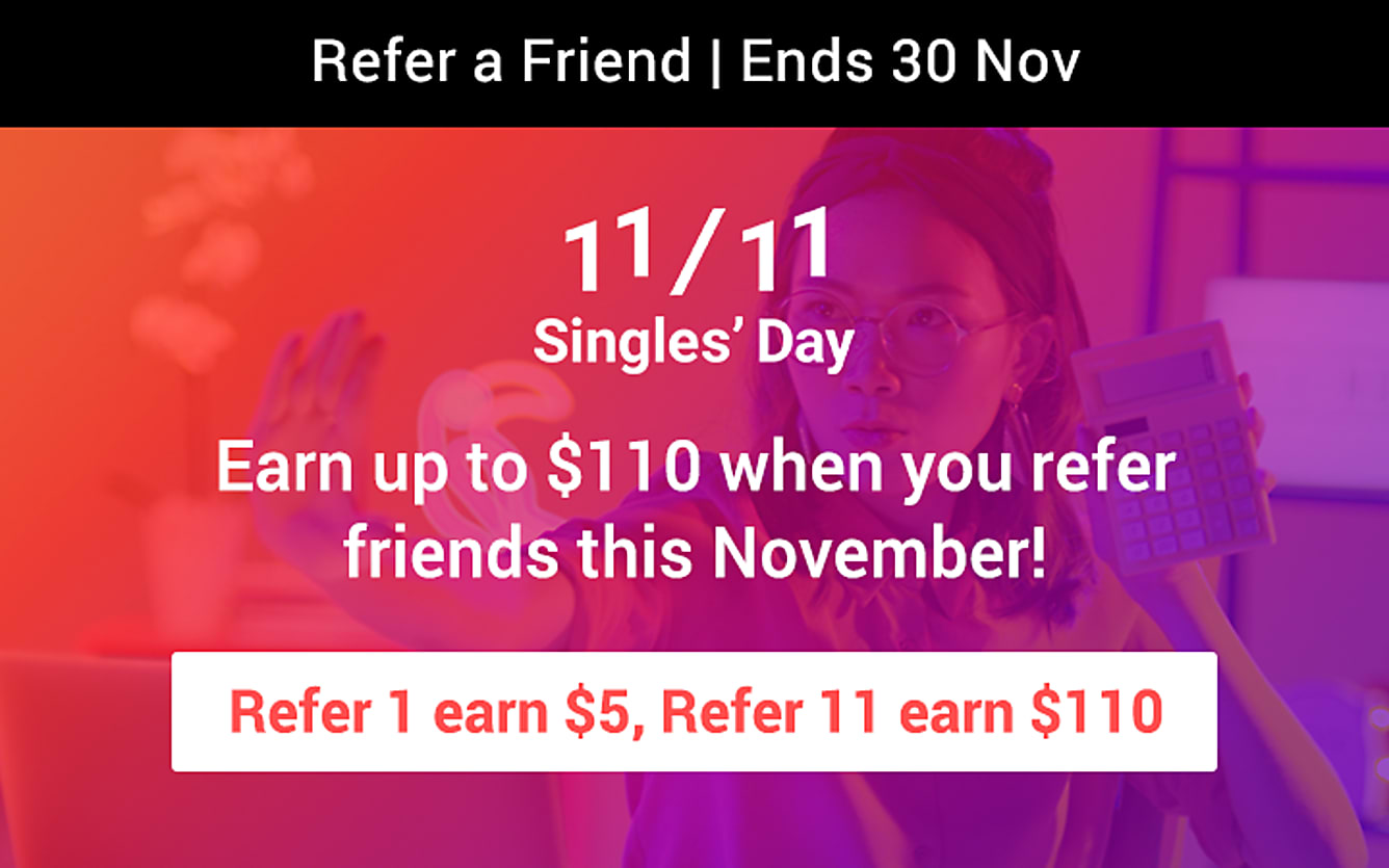 RAF refer 1 earn $5, refer 11 earn $110