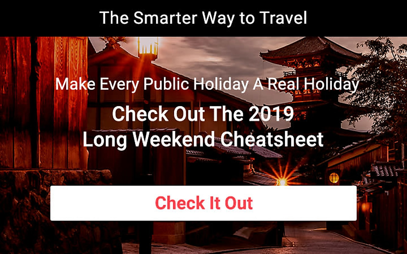 Long weekend travel deals