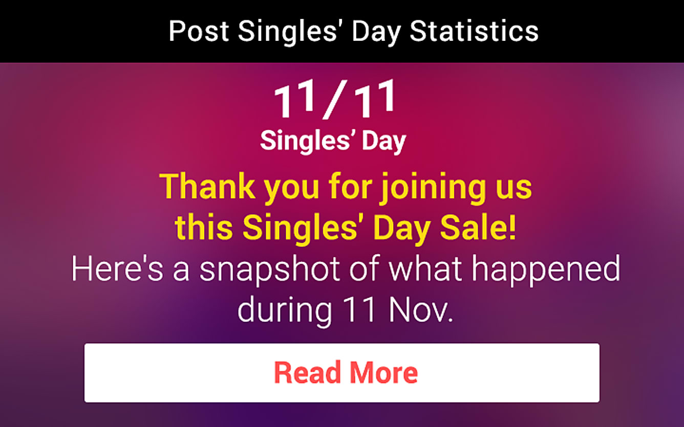 1111 Singles' Day Infographic