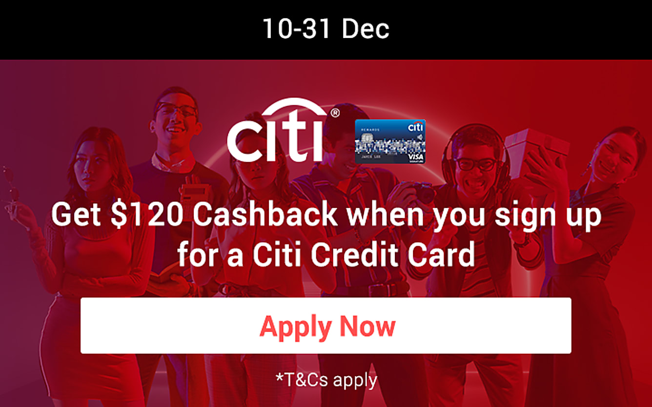 Get $120 when you sign up for a Citi Credit Card
