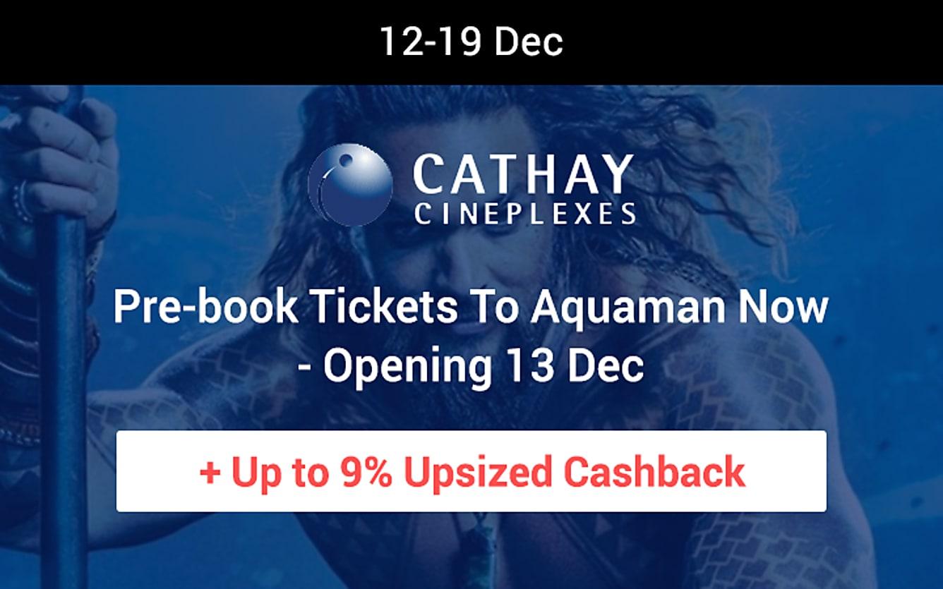 Cathay Cineplexes 9% upsized cashback