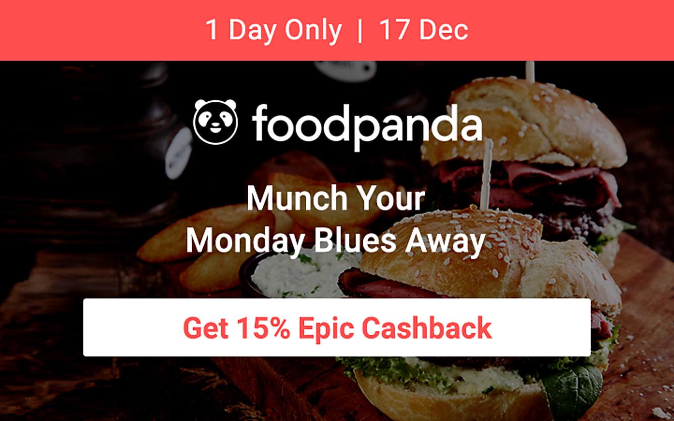 Foodpanda 15% epic cashback