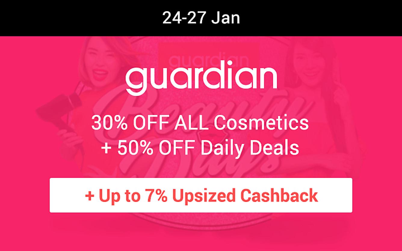 Guardian up to 7% upsized cashback