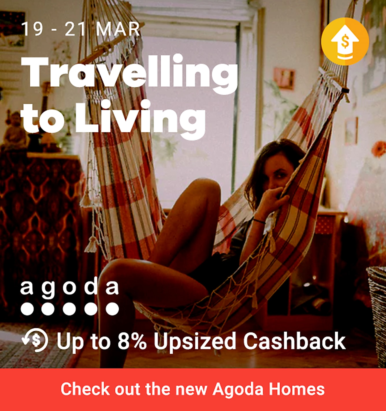 Agoda up to 8% upsize cashback (was 6%) from 19-21 mar