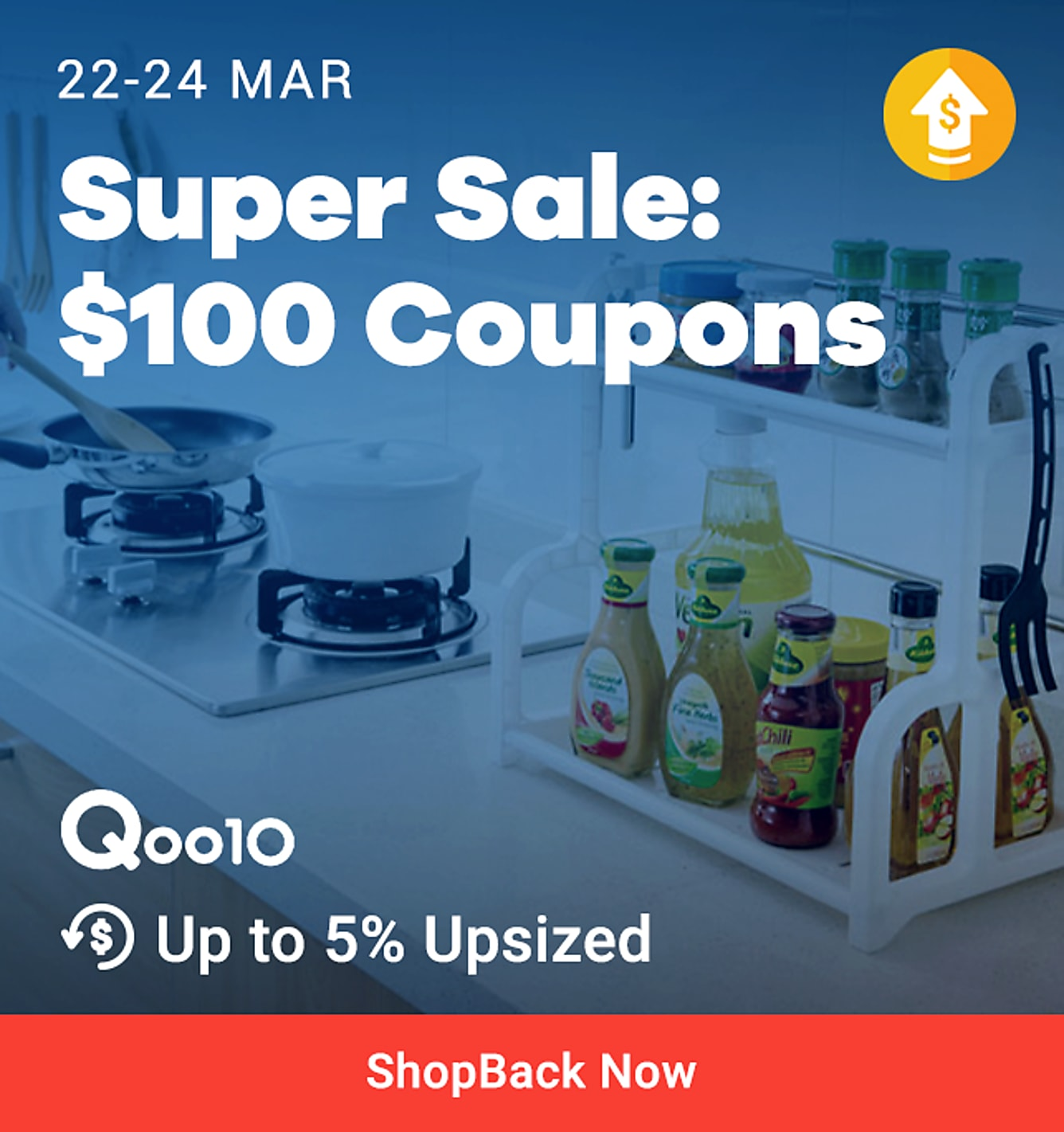 Qoo10 Super Sale 5% Upsized on Clothing 22-24 Mar