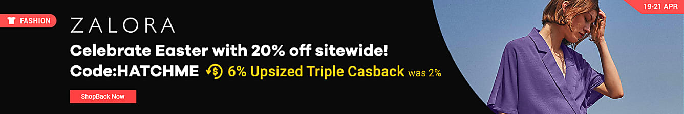 20% off sitewide 6% triple cashback