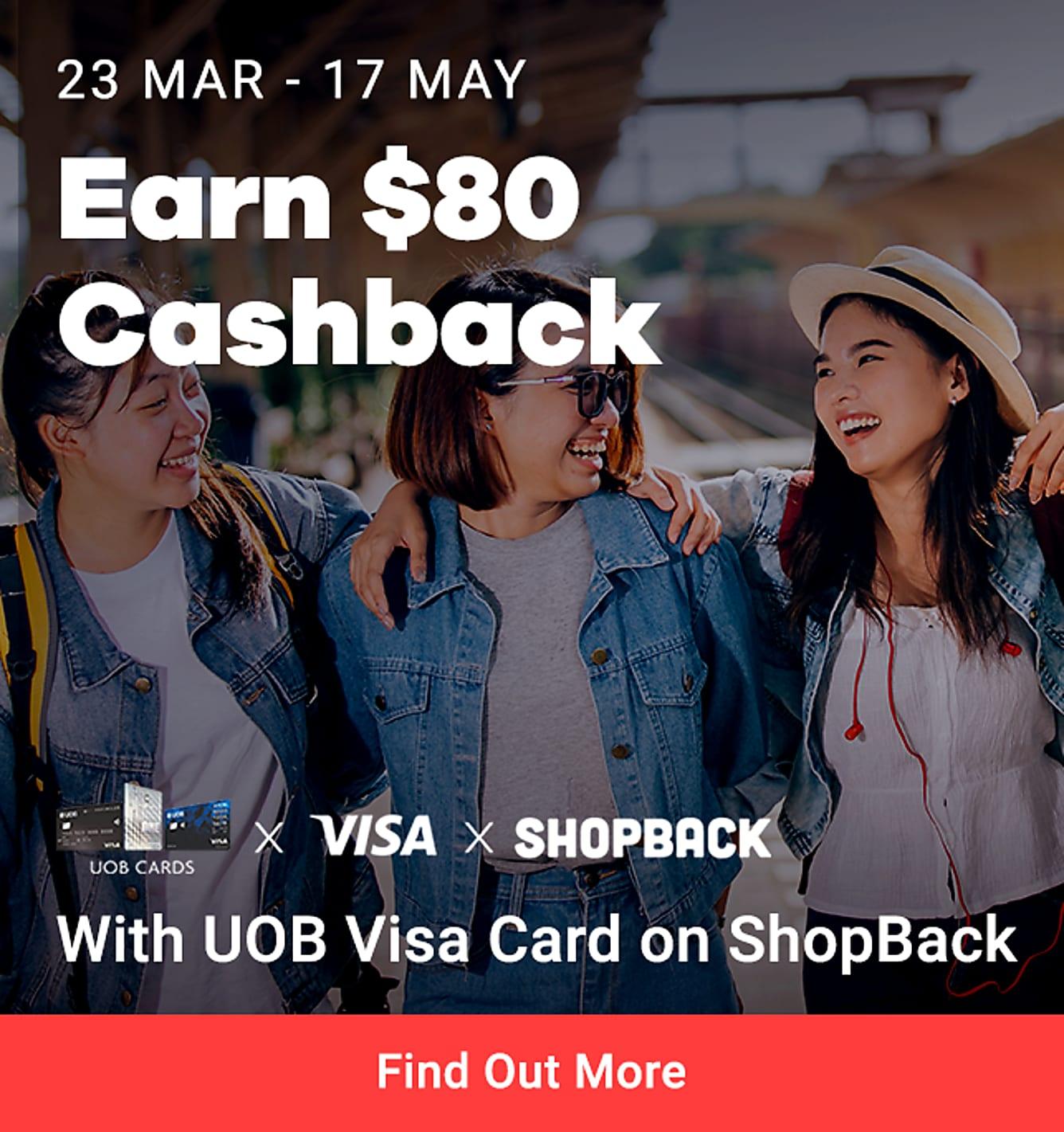 Earn $80 Cashback