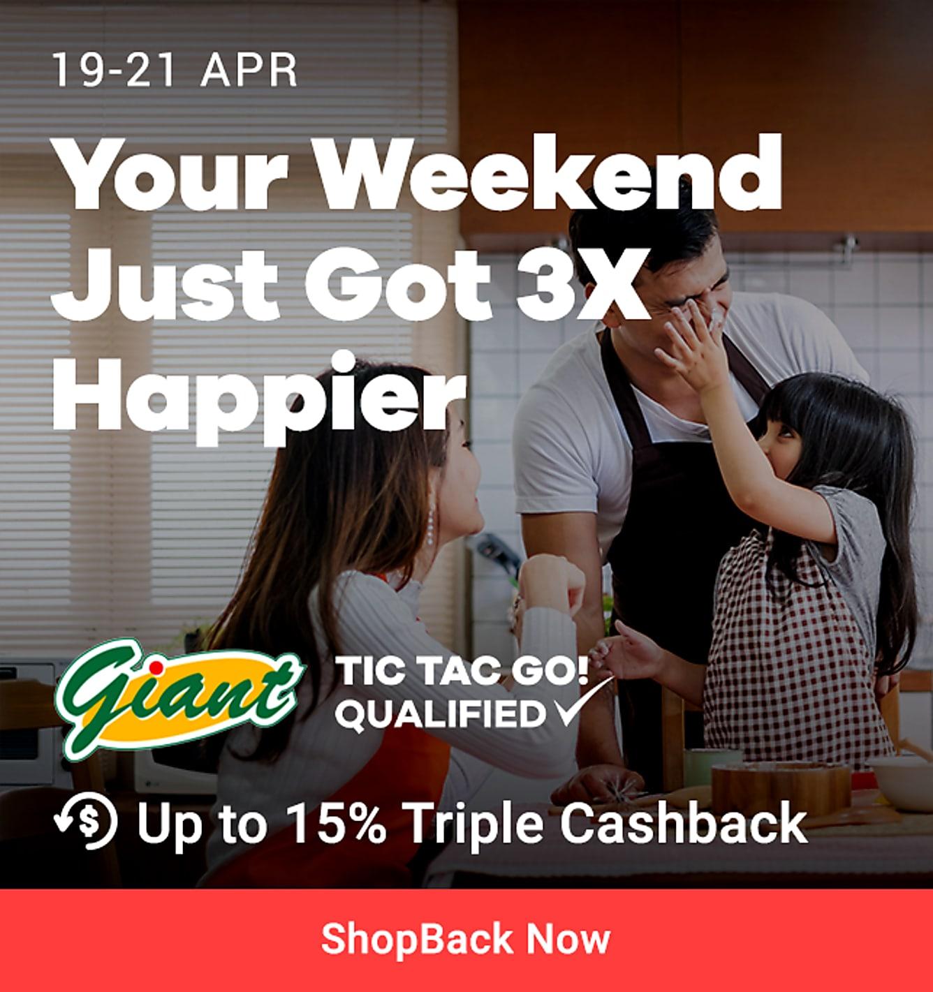 3x 15% triple cashback