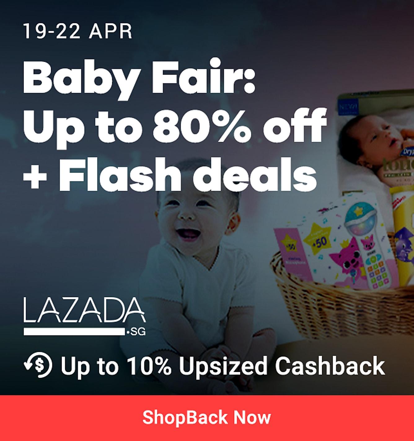 Baby Fair 80% off 10% upsized cashback