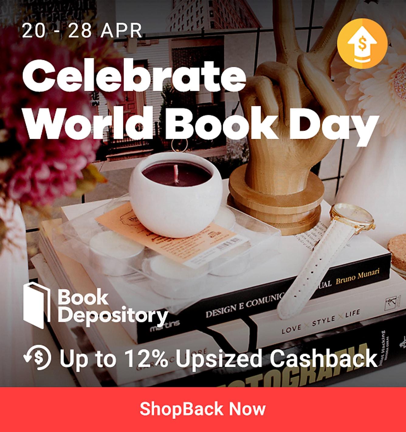 book depository 12% upsized cashback