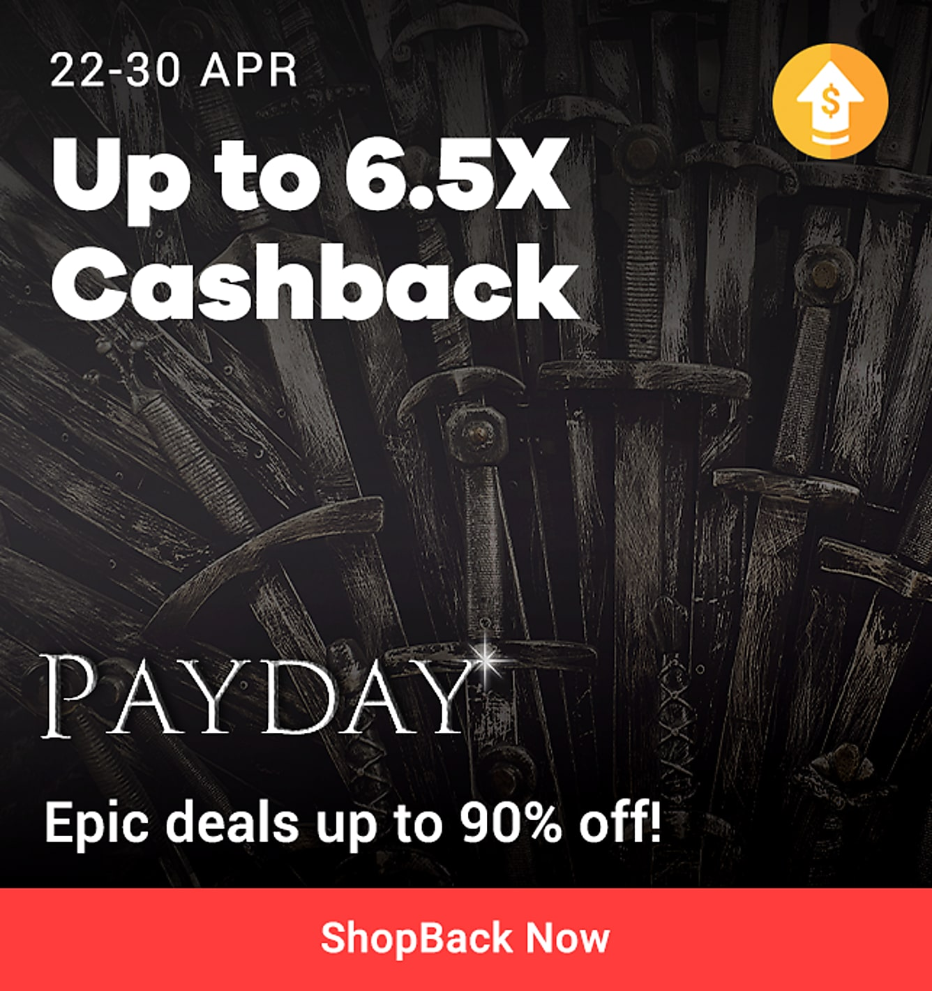 Payday sales 22-30 Apr