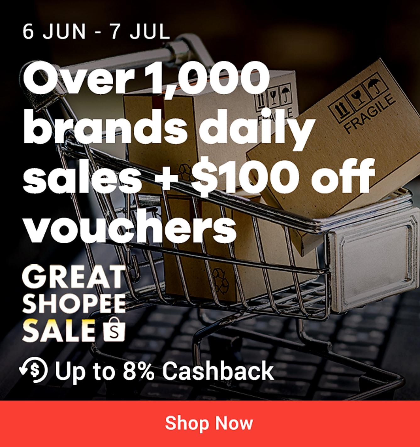 Shopee great shopee sale till 7 july