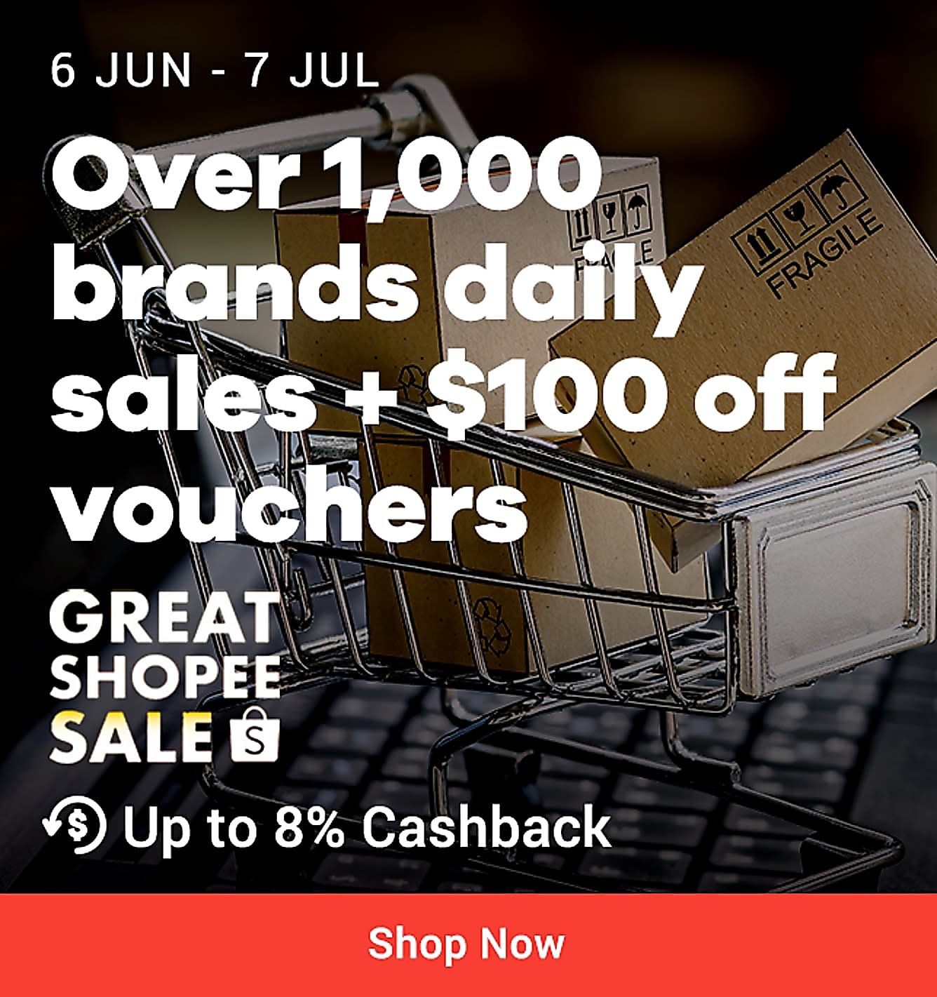 Shopee great shopee sale till 7 july