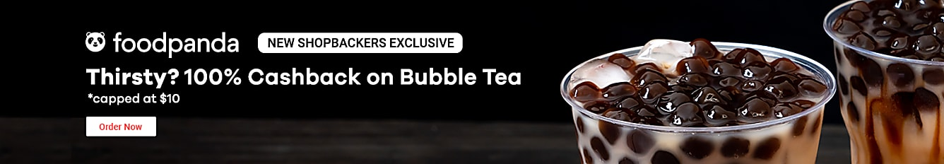 Foodpanda 100% Cashback on Bubble Tea for New ShopBack Customers