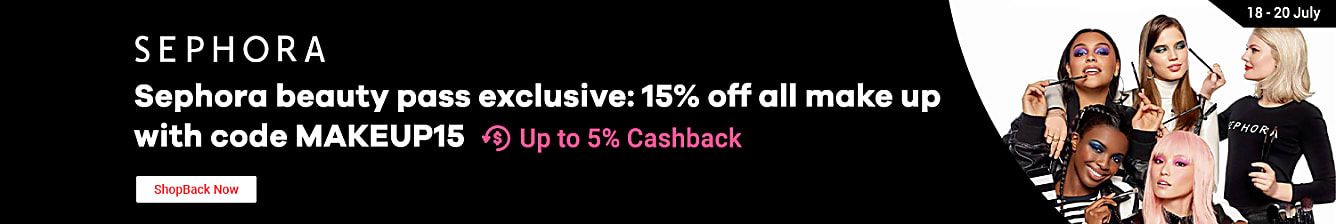Sephora beauty pass exclusive: 15% Off On All Makeup & Makeup Accessories with code: MAKEUP15 (do not release code early) from 17-20 July. for sephora black and white members starts 18-20 July. starts 17 July for sephora gold members