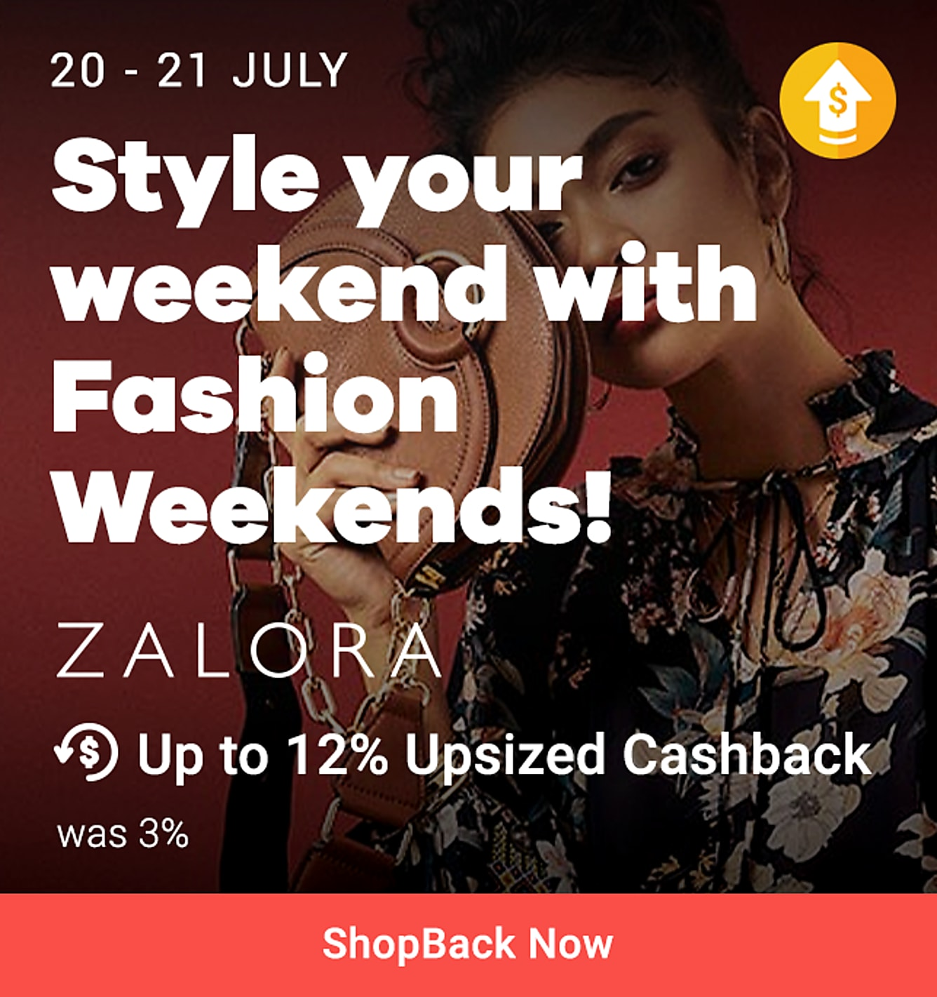 Zalora 20 - 21 Jul: Up to 12% upsized (was 3%) + onsite