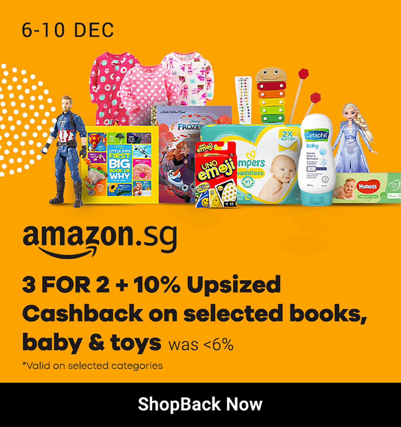 Amazon 3 FOR 2 + 10% Upsized Cashback