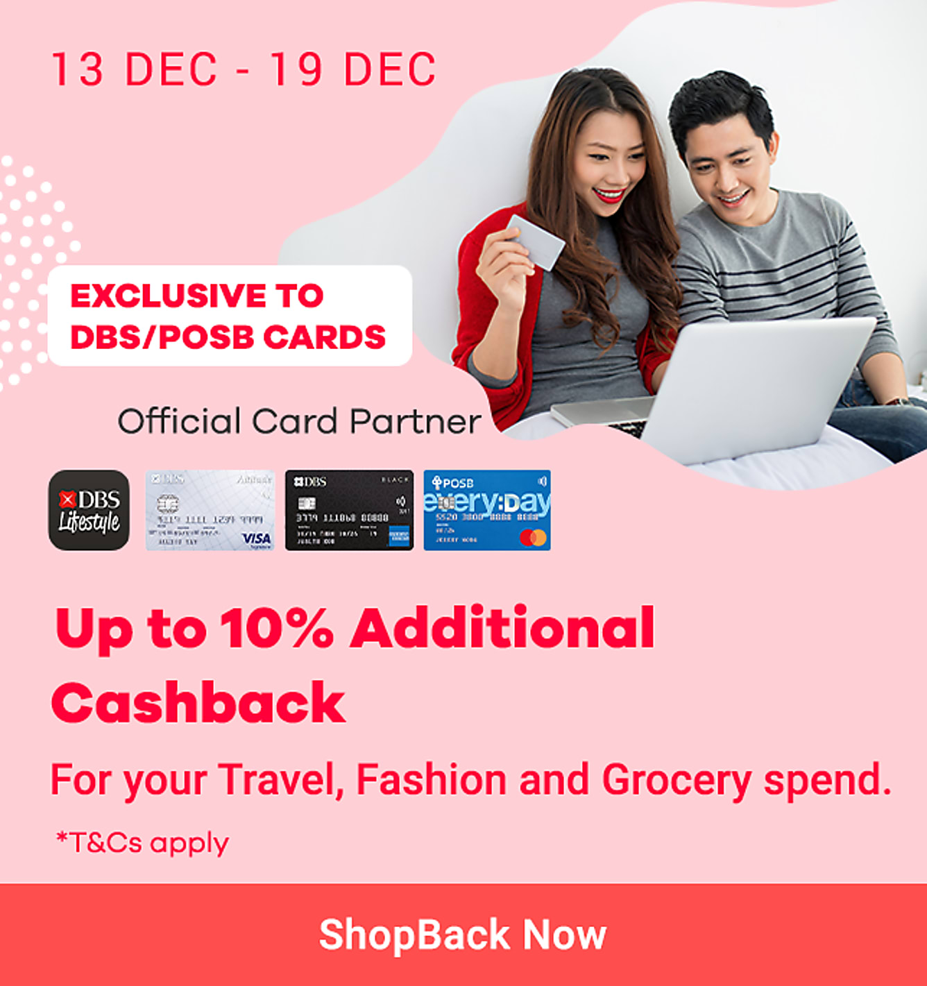 DBS 1212 Up to Additional 20% Cashback