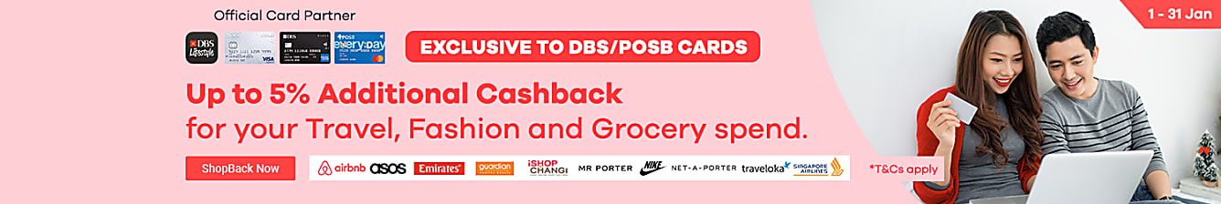 DBS Exclusive up to 5% additional cashback