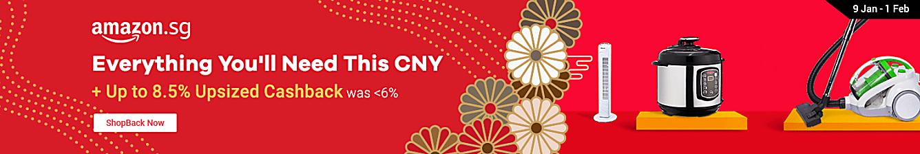 Amazon CNY 8.5% Upsized Cashback
