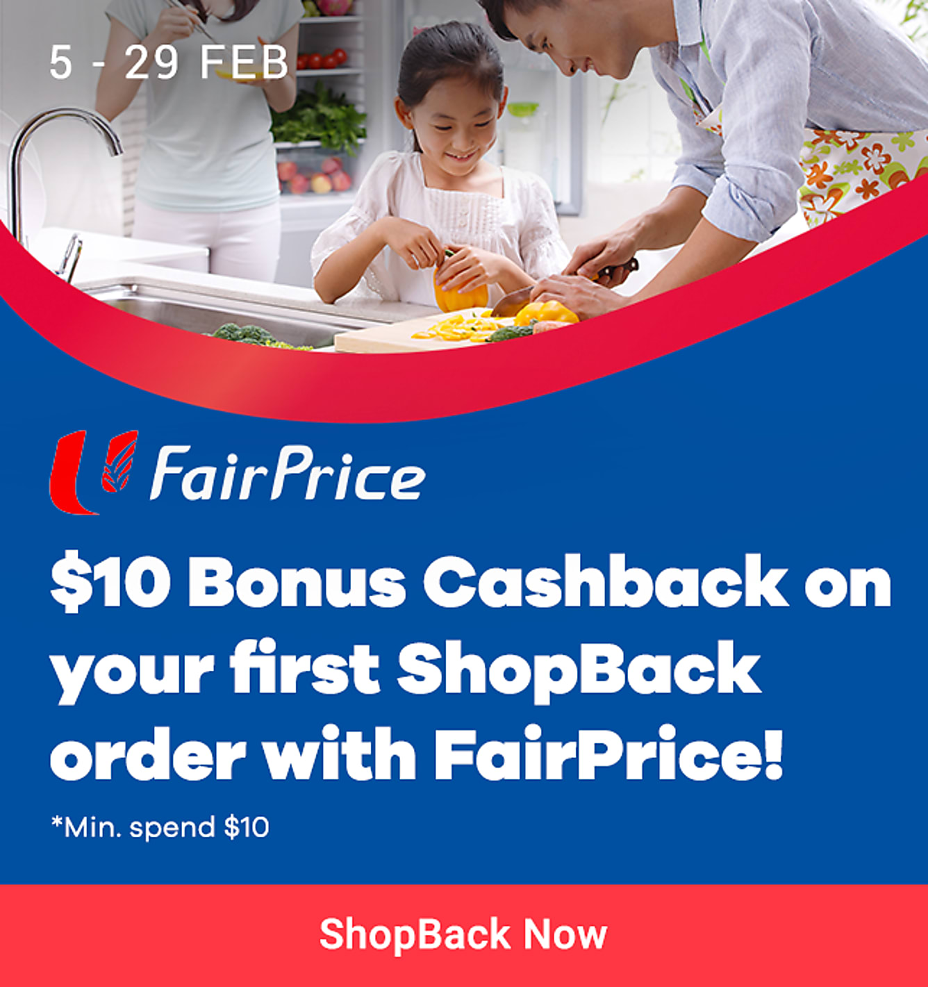 FairPrice Online $10 Bonus on your first order