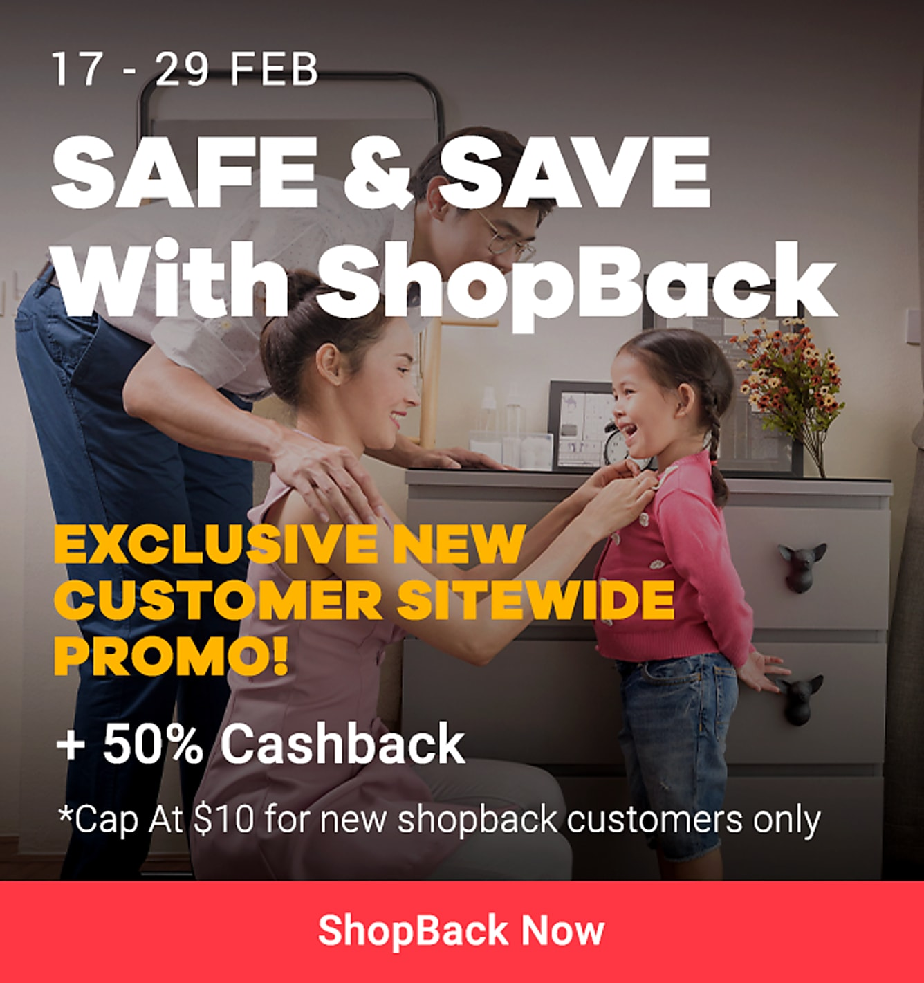 precaution new customer 50% cashback