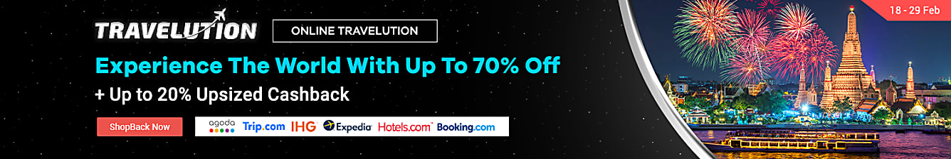 travelution up to 20% upsized cashback