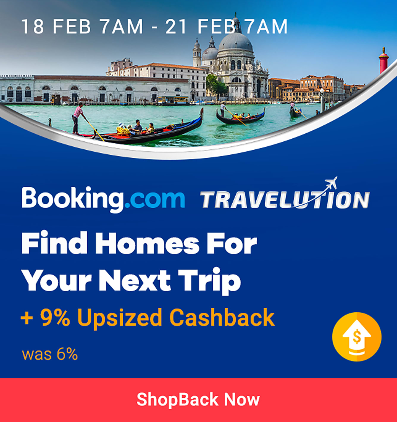 booking.com 9% upsized cashback