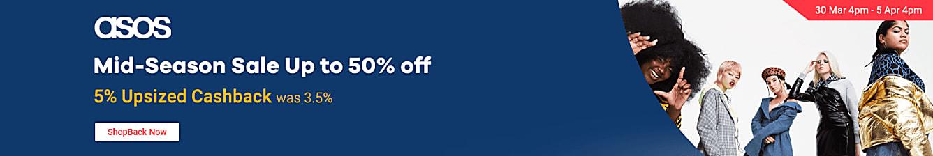 asos 5% upsized cashback was 3.5%