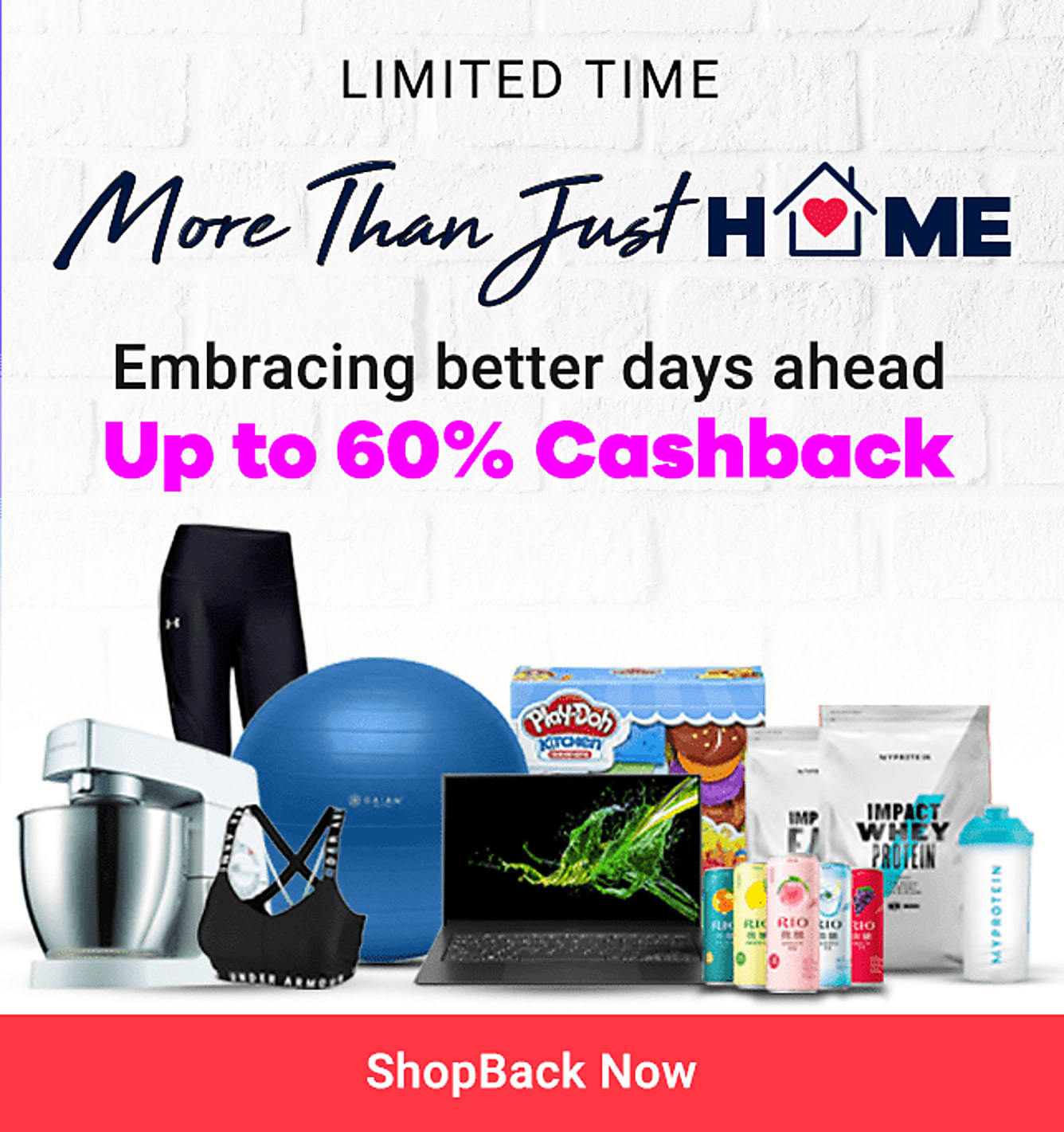 Stay Home Essentials Up to 60% Cashback