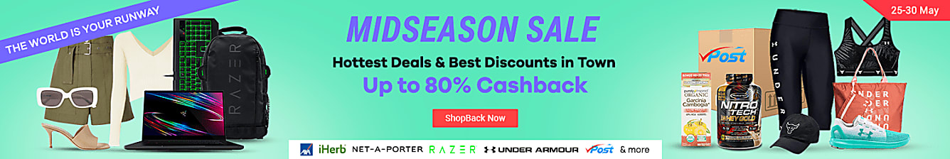 Mid Season Sale Up to 80% Cashback