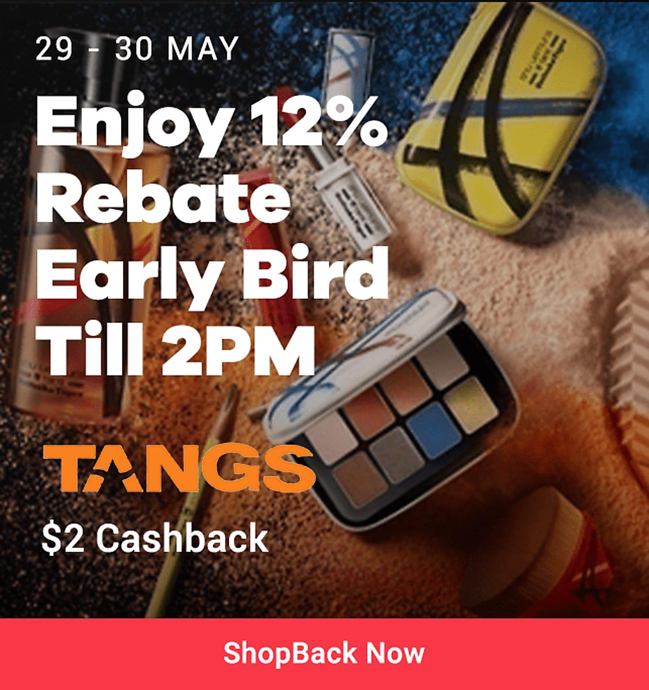 tangs 12% rebate