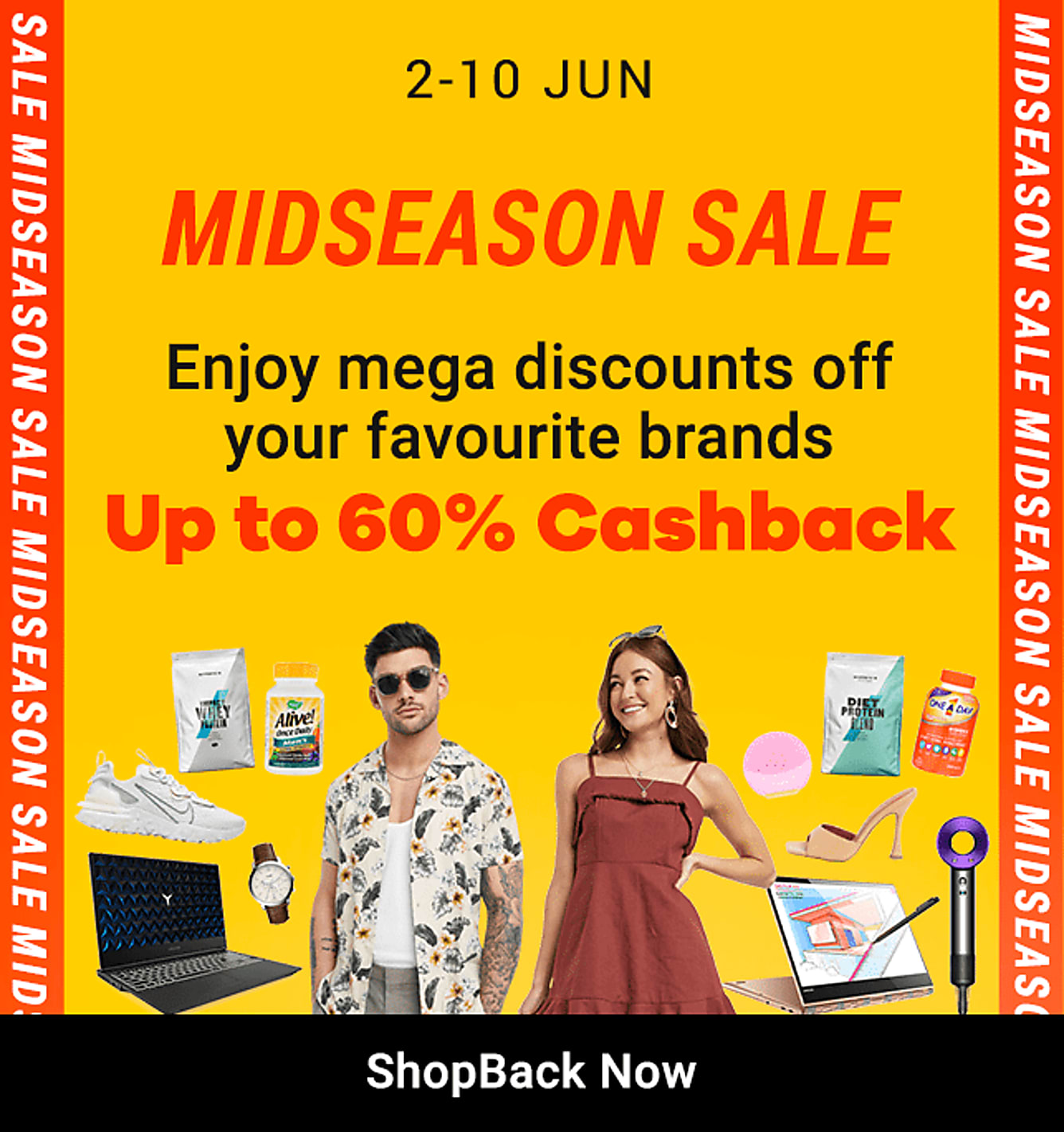 Mid Season Sale Up to 60% Cashback