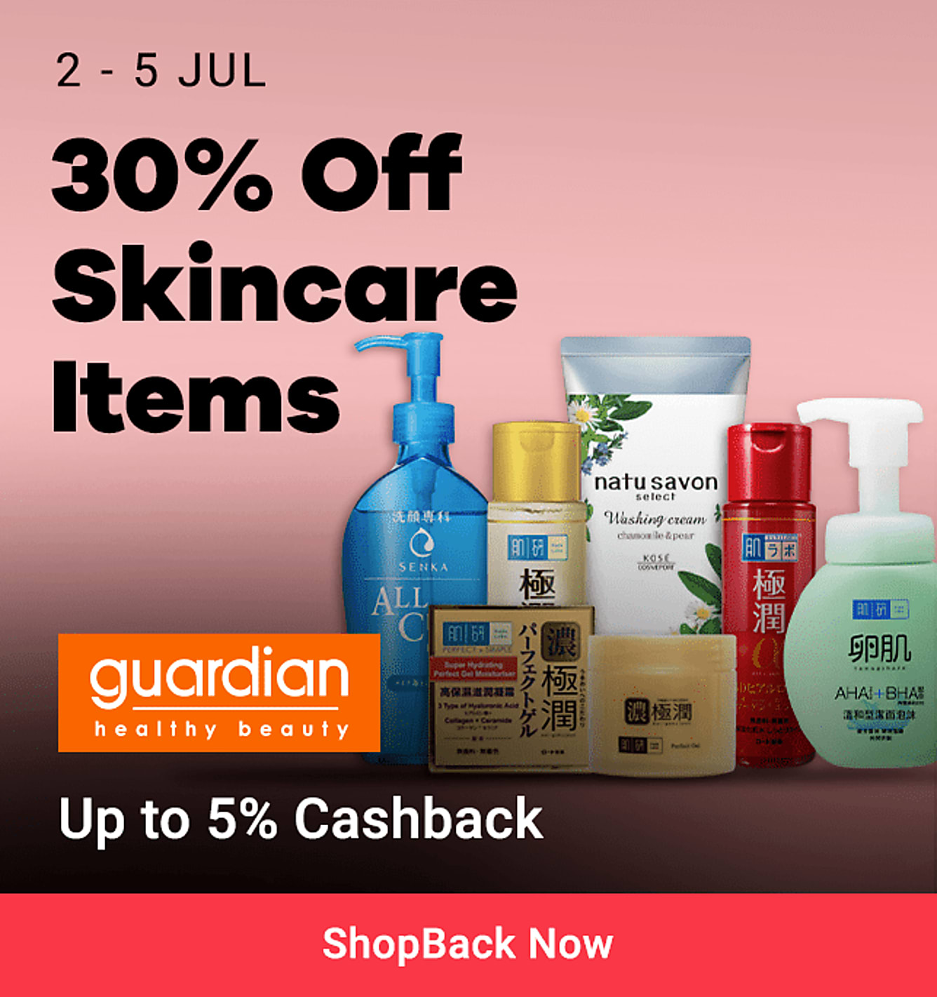 guardian 30% off skincare items