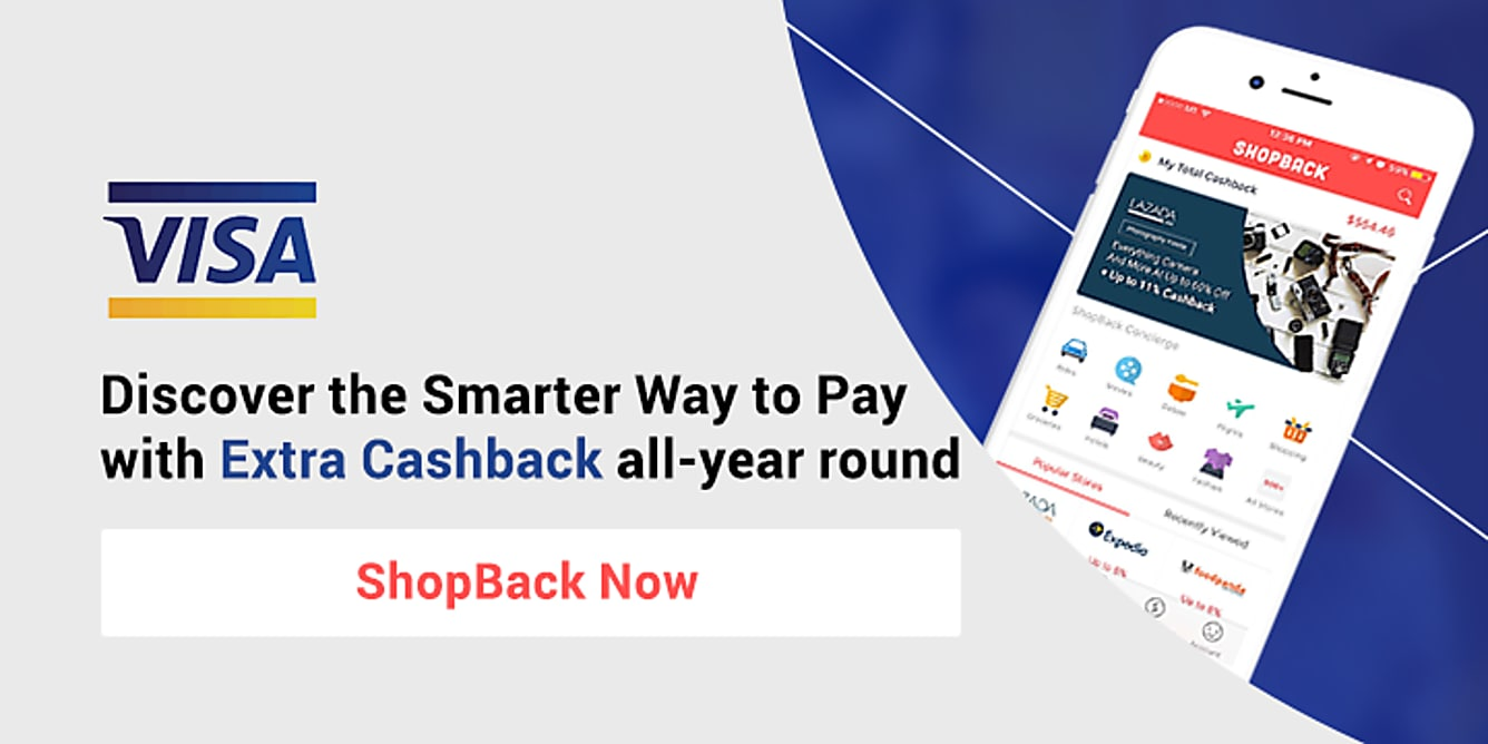 Visa Earn extra Cashback when you shop with Visa!