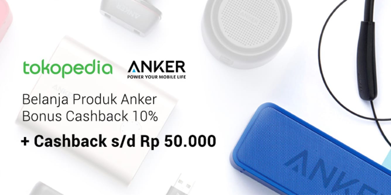 Promo Anker Indonesia Tokopedia Official Store