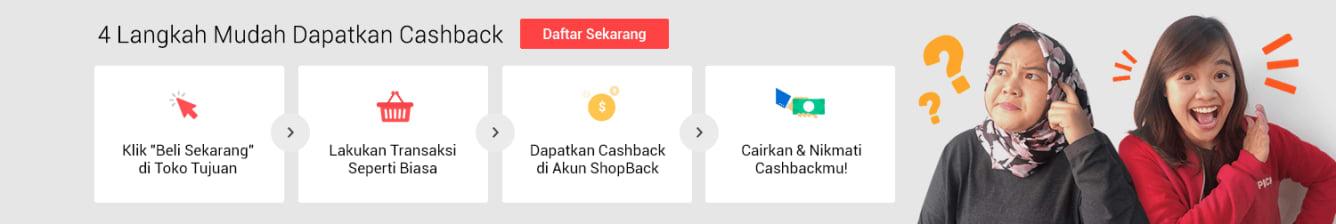 Earn Cashback in 3 simple steps