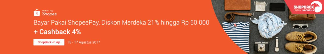 Shopee Merdeka 21%