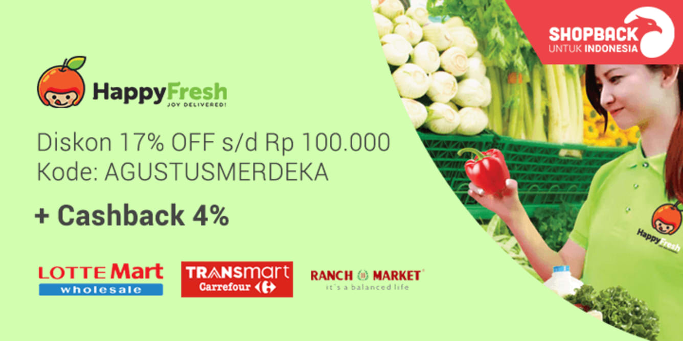 HappyFresh Merdeka Sale